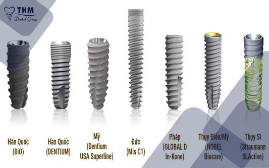 Kinh nghiệm làm răng Implant - Các loại trụ Implant